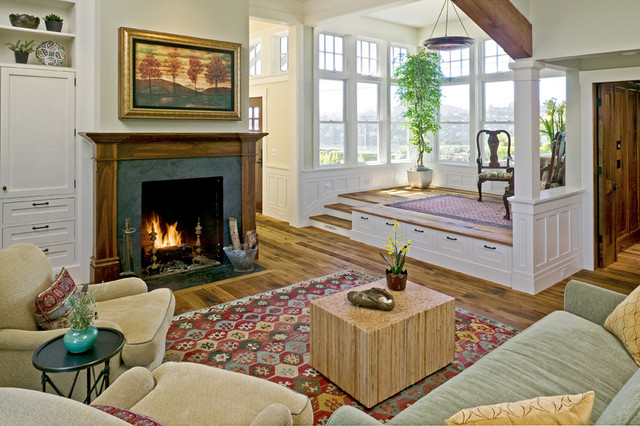 Tiburon Residence traditional living room
