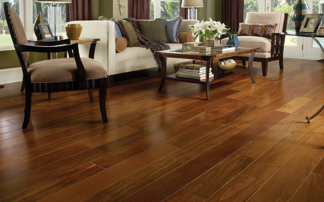 Tiete Chestnut Engineered Hardwood Flooring Contemporary Living Room