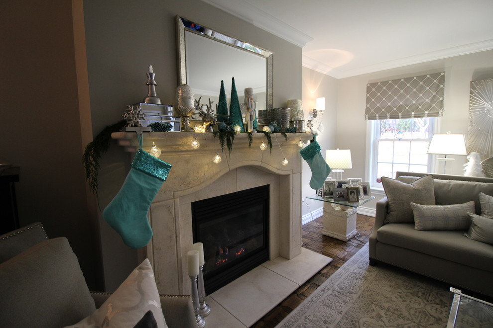 Tiffany Blue And Silver Contemporary Decor Contemporary Living Room Toronto By The Expert Touch Interiors