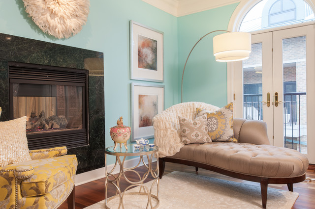 Tiffany blue living room transitional living room st for Tiffany blue living room ideas