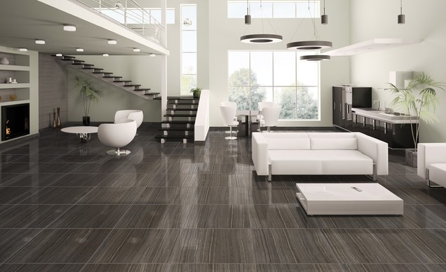 Tile natural stone products we carry modern living Black tile flooring modern living room