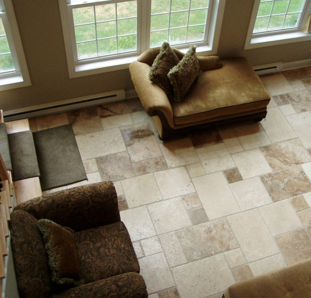 Living room floor tile from Phoneix tile installation in Phoenix