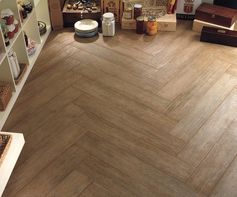 Tile Floors to Look like wood - Traditional - Living Room - New York ...
