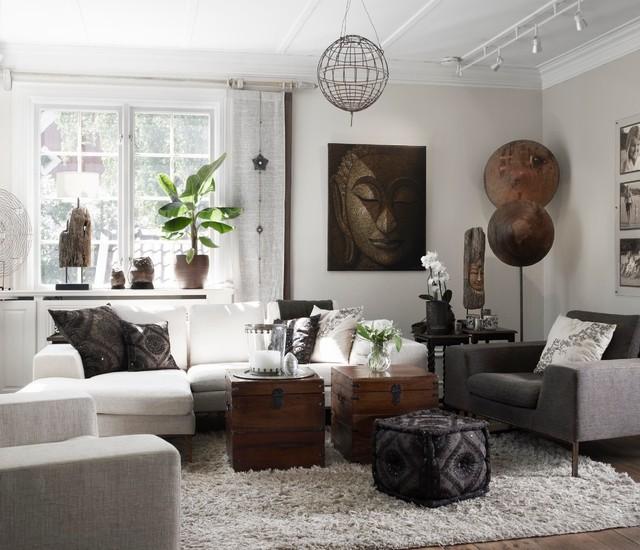 17 Ethnic Living Room Designs Ideas: Tillbyggnad Och Inredning Av Villa I Nationalromantisk