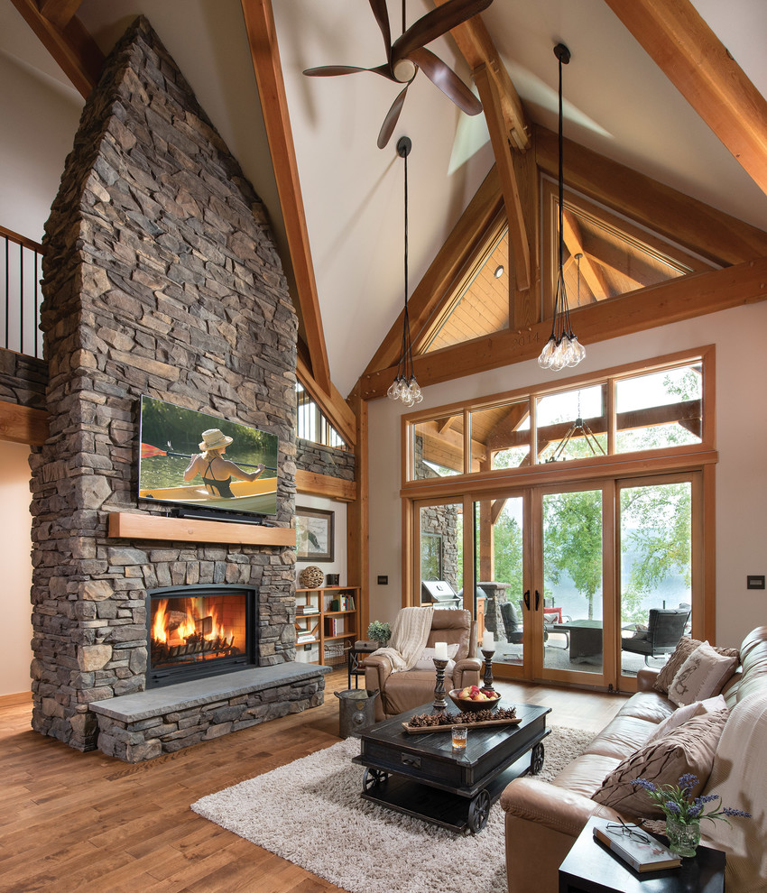 Houzz Home Design Ideas: Timber Filled Vaulted Ceilings