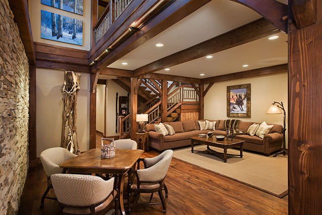 Timber frame home for Timber frame home interiors