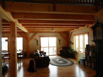 Timber Frame Living Room contemporary-living-room