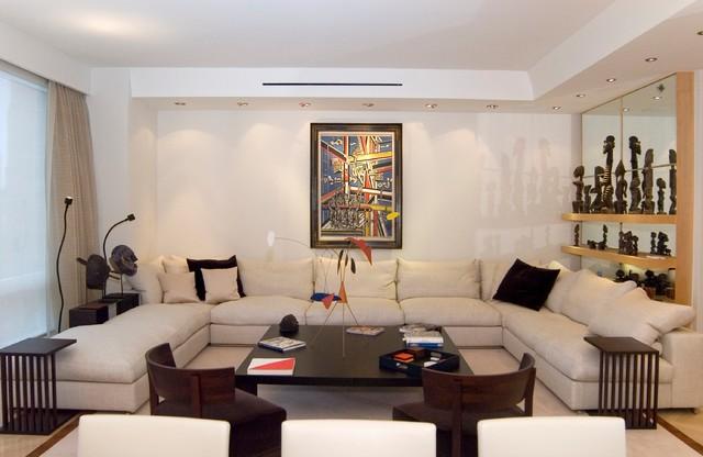 Time Warner Duplex contemporary-living-room