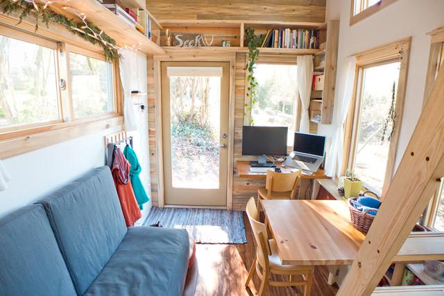 Tiny House Living Space contemporary-living-room