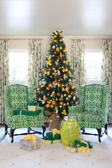 Tobi Fairley Holiday traditional living room