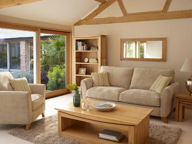 marvellous solid oak living room furniture | Tokyo - Natural Solid Oak Living Room. - Rustic - Living ...