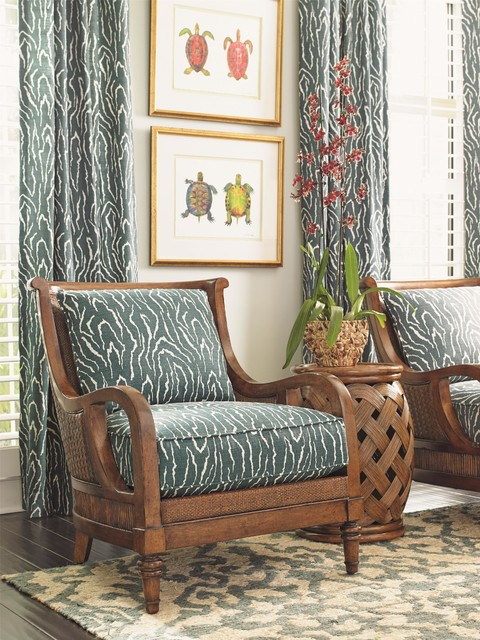 Tommy Bahama Home Bali Hai Island Paradise Chair Tropical Living Room