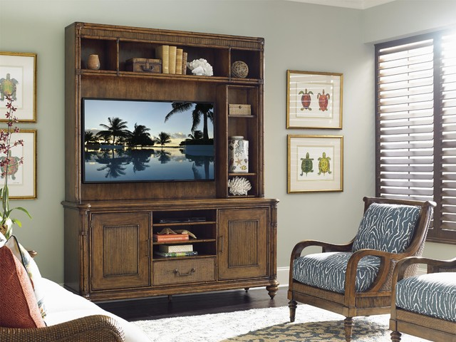 Tommy Bahama Home Bali Hai Pelican Cay Media Console And Hutchtropical Living Room Miami