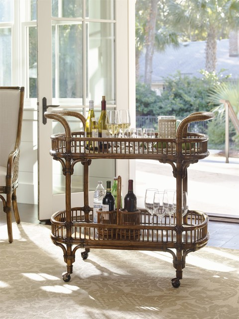 Tommy Bahama Home Bali Hai Veranda Bar Cart Tropical Living Room Other Metro By Baer 39 S