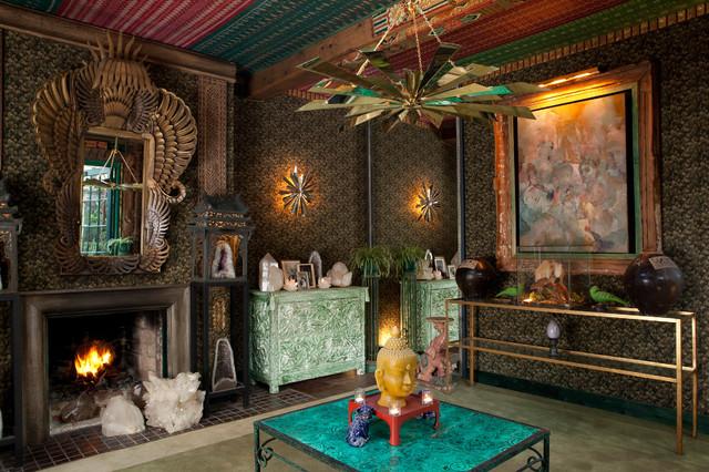 Tony Duquette S Dawnridge Eclectic Living Room Los Angeles
