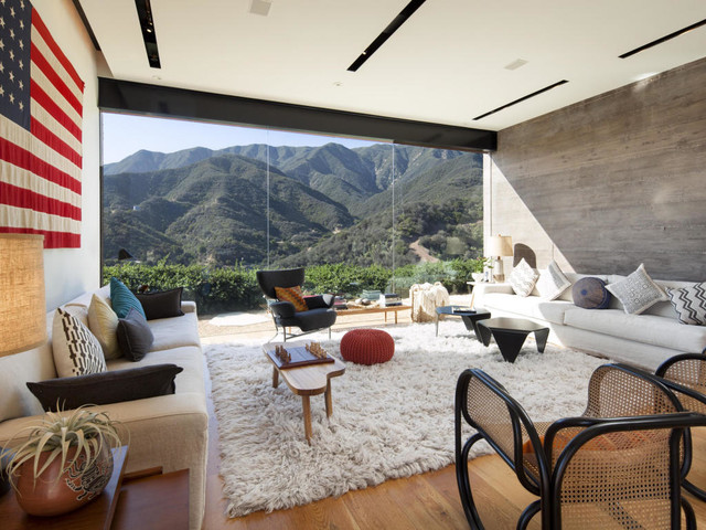 Toro Canyon contemporary-living-room