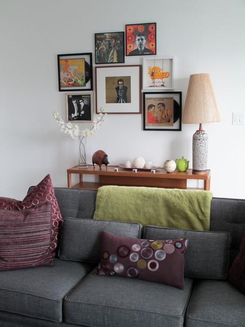 Toronto Condo midcentury-living-room