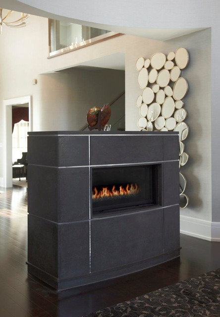 Linear Fireplace Mantel Modern Entry Other Metro By Omega Mantels Of Stone