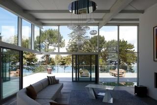 toull ar soner house contemporain salon brest par tania urvois architectes. Black Bedroom Furniture Sets. Home Design Ideas