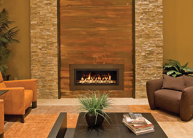 Town And Country 38 Inch Widescreen Fireplace Contemporary Living Room Denver By Home