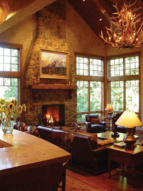Town and country 42 inch fireplace traditional living for Country home and hearth