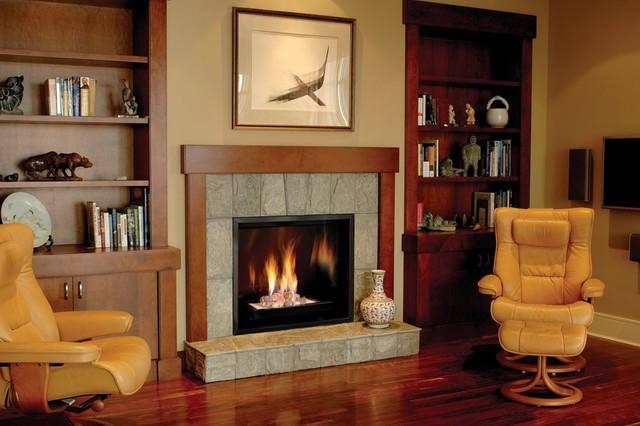 Town & Country 42 Inch Gas Fireplace traditional-living-room