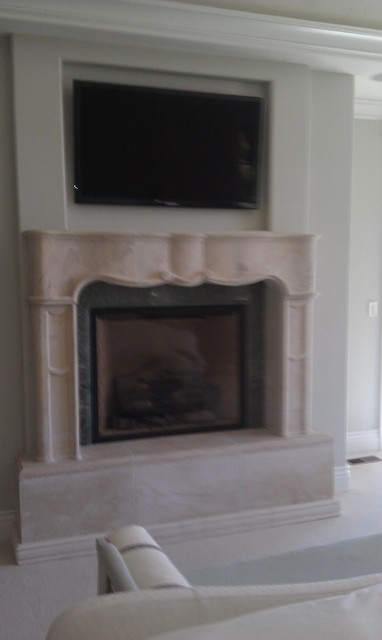 town and country fireplace installation traditional