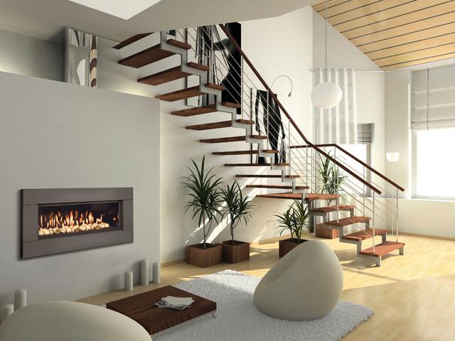 Trendy living room photo in Sacramento