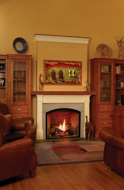 Town country tc36 arch gas fireplace traditional for Country home and hearth
