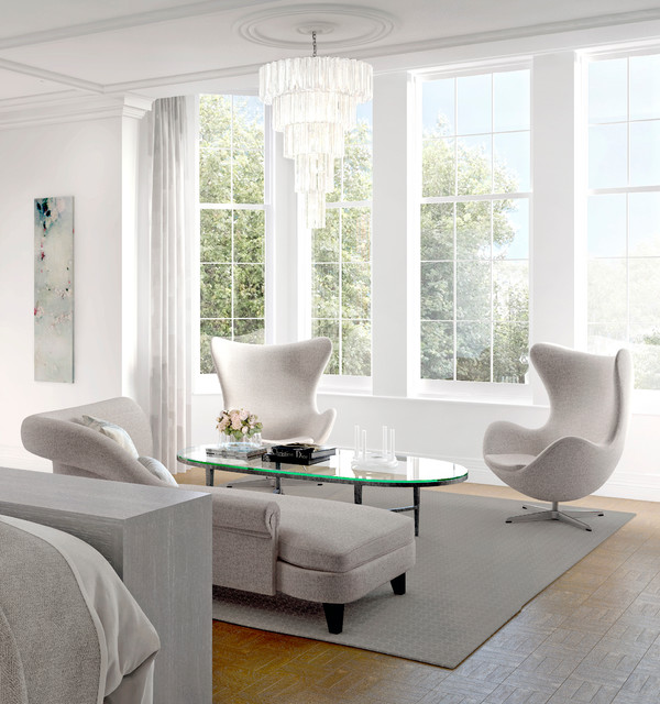 Town House in Kensington transitional-living-room