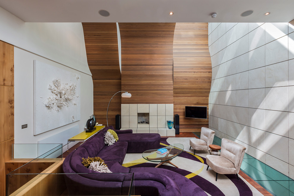 Inspiration for a contemporary enclosed living room remodel in London