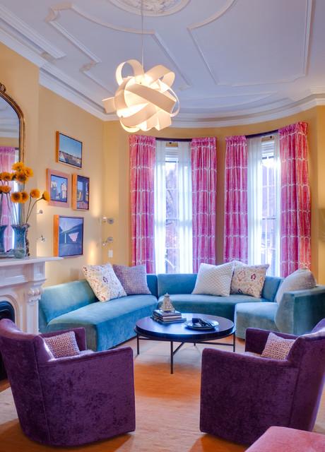 Townhouse Living Room Design: Contemporary