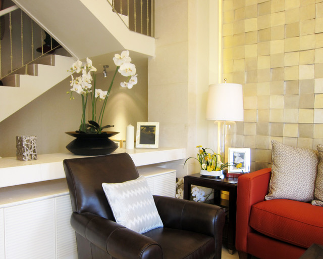 Townhouse model home contemporary-living-room