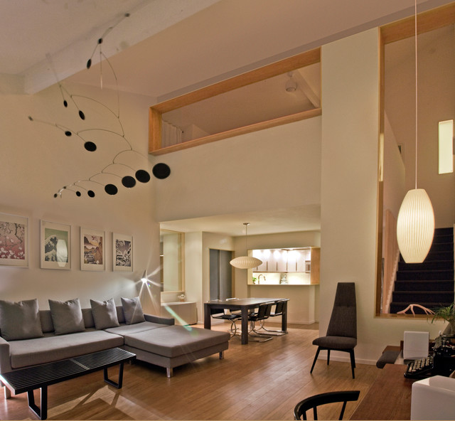 Contemporary Living Room Design Houzz: Townhouse Renovation In San Diego