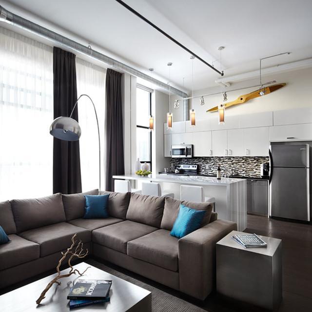 Toy Factory Loft Contemporary Living Room