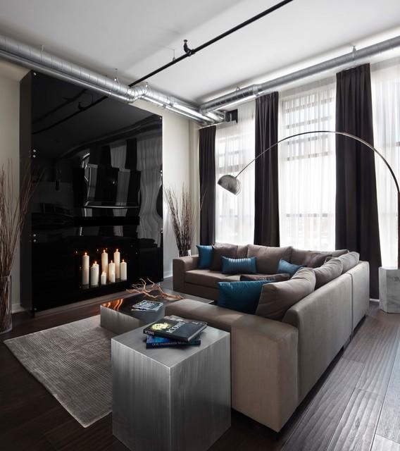 Toy Factory Loft Contemporary Living Room Toronto