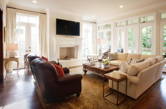 River Oaks Residence traditional-living-room