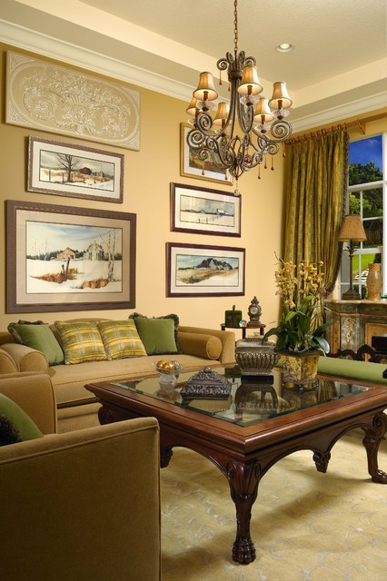 Traditional Country French Home - traditional - living room ...