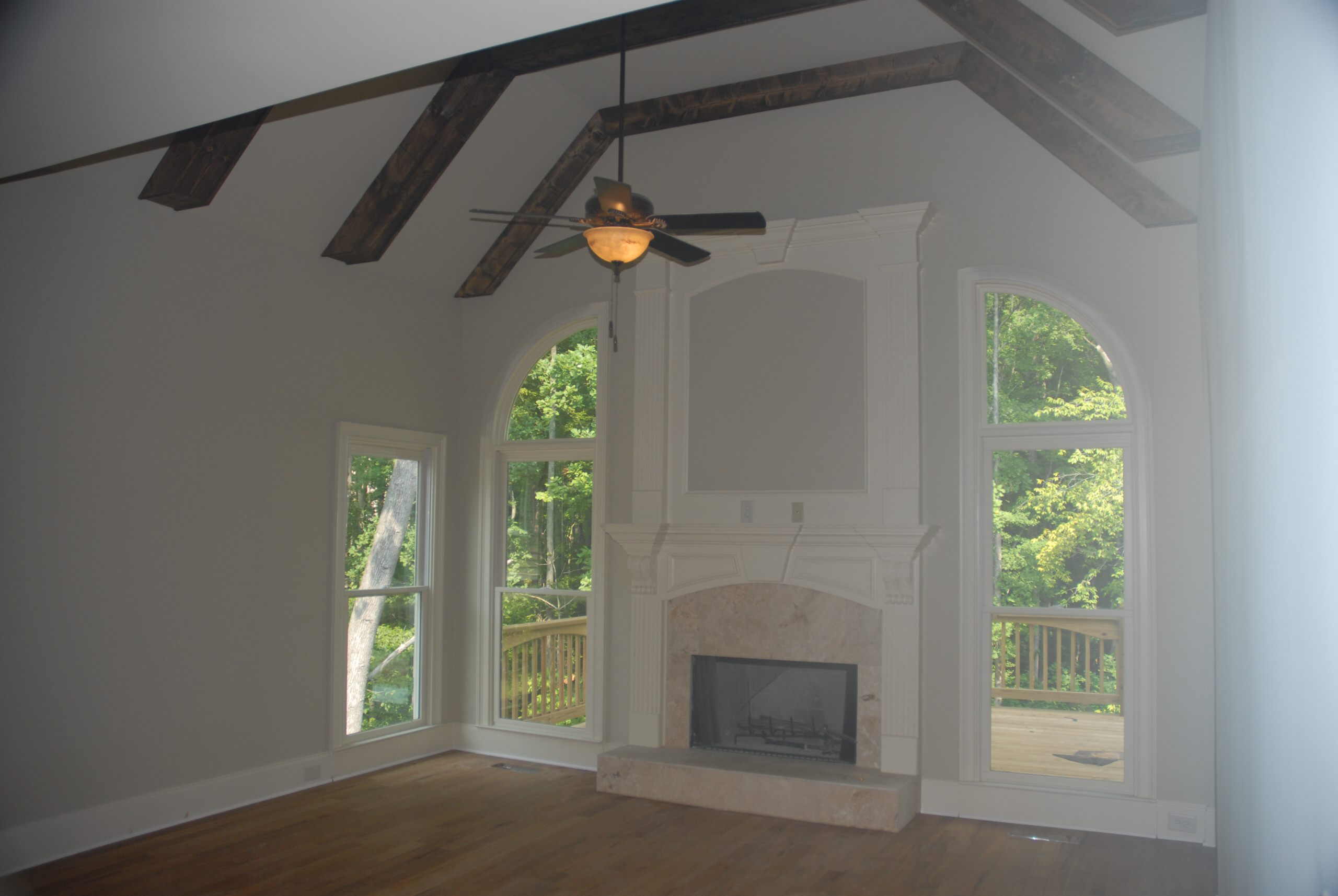 Traditional Custom Home Build with Moldings, Trim, Fireplace & Mantle