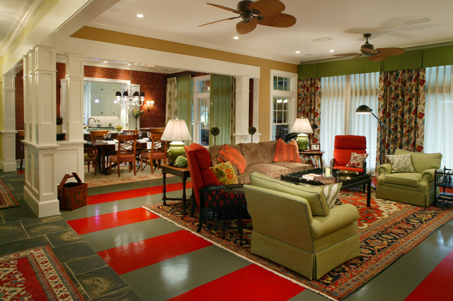 traditional eclectic eclectic living room