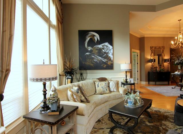 Traditional elegant glamour living room for Elegant traditional living rooms