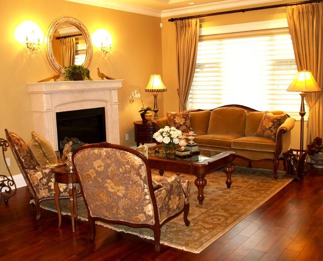 Traditional European Elegance Traditional Living Room