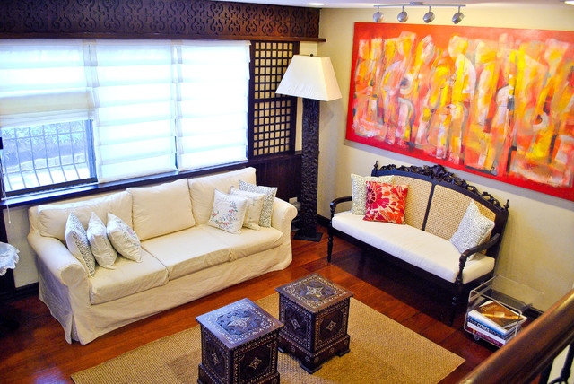 Attractive Traditional Filipino Residence Contemporary Living Room