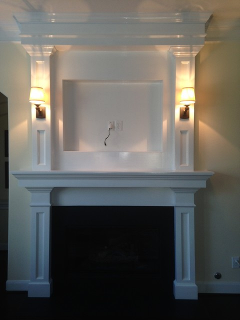 Traditional Fireplace Makeover Houston Living Room
