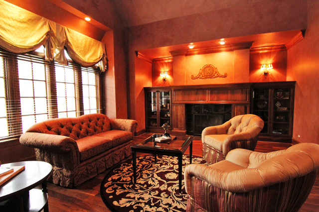 Traditional French Country inspired traditional-living-room