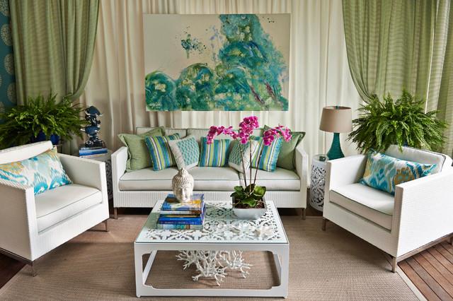 """""""Traditional Home - Hamptons Designer Showhouse"""" contemporary-living-room"""