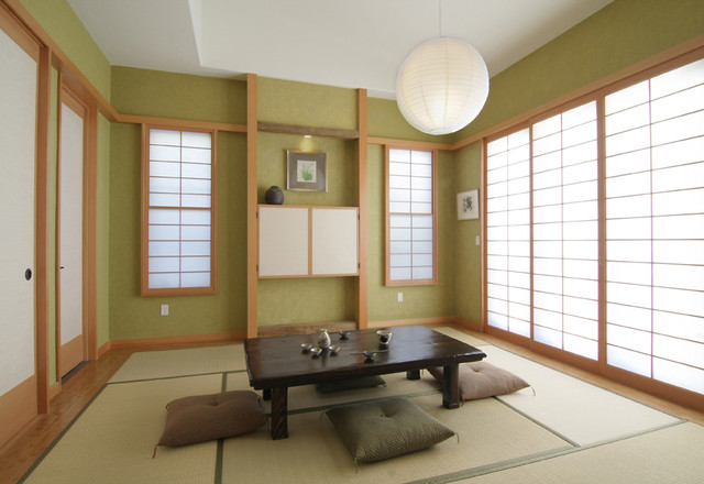 Traditional japanese asian living room los angeles for Living room design japanese style