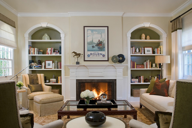 Colonial Revival traditional-living-room