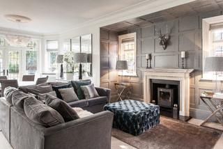Salon classique avec un poêle à bois : Photos et idées déco ...