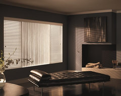 Graber Crowned Vinyl Vertical Blinds traditional-living-room